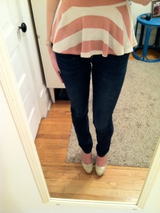 Victoria's a Shoe a Day: Peplum with Dark Wash Skinnies