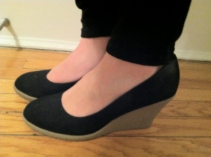 Victoria's a Shoe a Day: Black Wedges