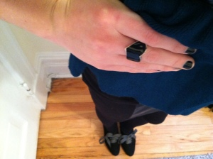 Victoria's a Shoe a Day: Black Heart Ring