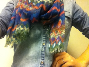Victoria's a Shoe a Day: Chambray & Scarf