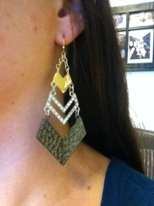 Victoria's a Shoe a Day: Chevron Earrings