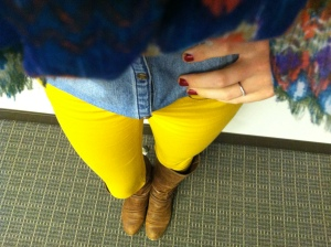 Victoria's a Shoe a Day: Mustard Skinnies & Boots