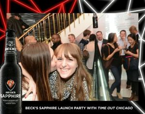 Beck's Sapphire Event: Having fun with my bff