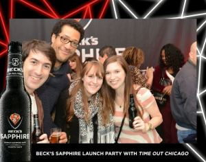 Beck's Sapphire Event: Making New Friends