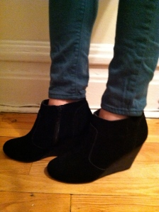 Victoria's a Shoe a Day: Black Wedge Booties