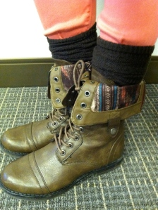 Victoria's a Shoe a Day: Military Boots & Pink Skinnies