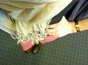 Victoria's a Shoe a Day: Nude Scarf