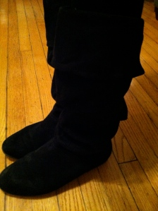 Victoria's a Shoe a Day: Suede Slouchy Boots