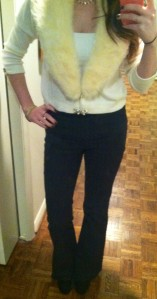 Victoria's a Shoe a Day: Winter White with High Waisted Pants