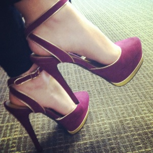 Victoria's a Shoe a Day: Magenta & Gold Velvet Ankle Strap Sandals