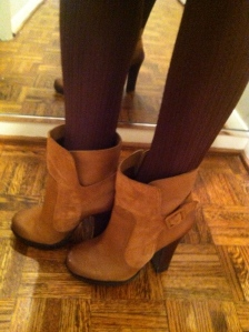 Victoria's a Shoe a Day: Jessica Simpson Booties & Tights