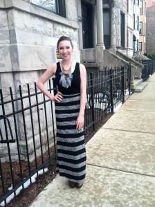 Victoria's a Shoe a Day: Statement Necklace & Maxi