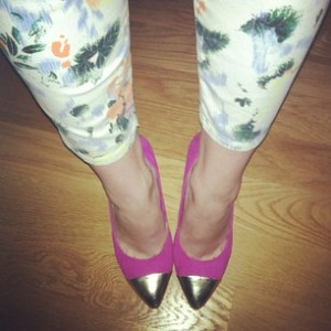 Victoria's a Shoe a Day: Floral Pants-3 Outfits