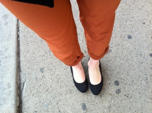 Victoria's a Shoe a Day: Linen Pants & Canvas Wedges