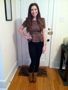 Victoria's a Shoe a Day: Leopard Peplum & neutrals