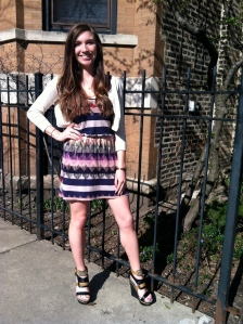 Victoria's a Shoe a Day: Aztec Dress & Wedges
