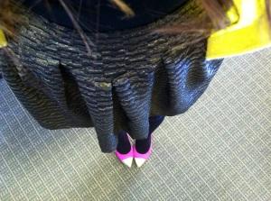 Victoria's a Shoe a Day: metallic gold a-line skirt