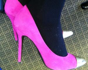 Victoria's a Shoe a Day: Pink cap toe pumps